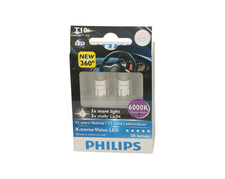 Philips LED W5W / T10 speciali kaina